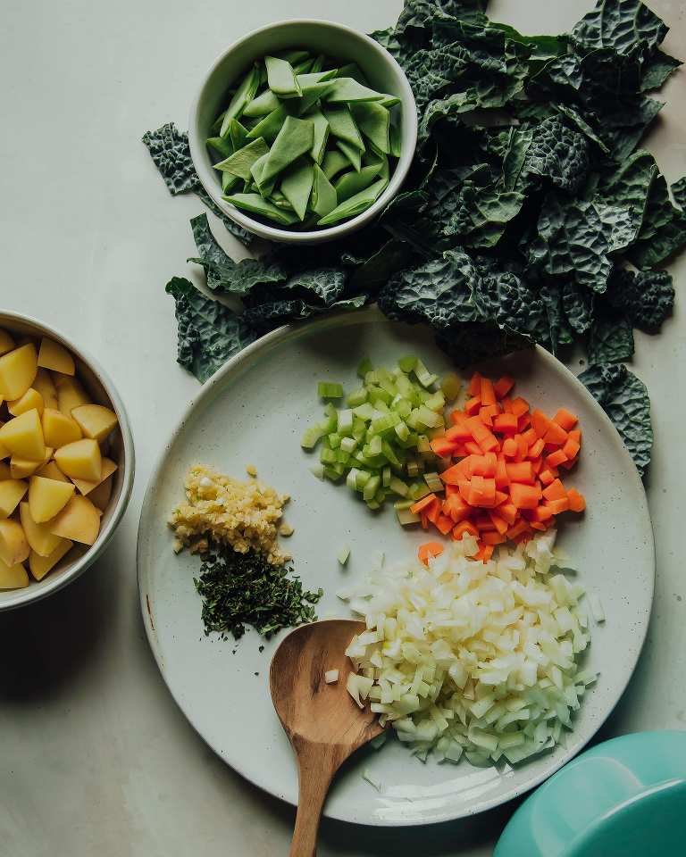 Smoky and Spicy White Bean Stew with Potatoes & Kale - The First Mess