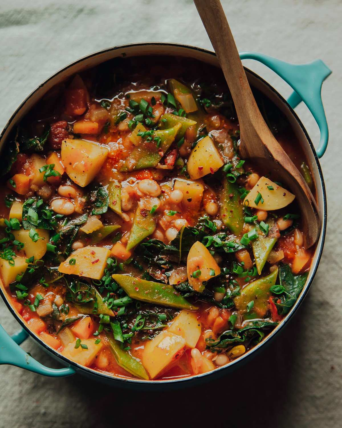 Smoky And Spicy White Bean Stew With Potatoes Amp Kale 187 The
