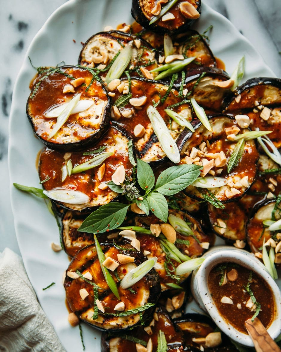GRILLED EGGPLANT WITH PEANUT BUTTER TERIYAKI » The First