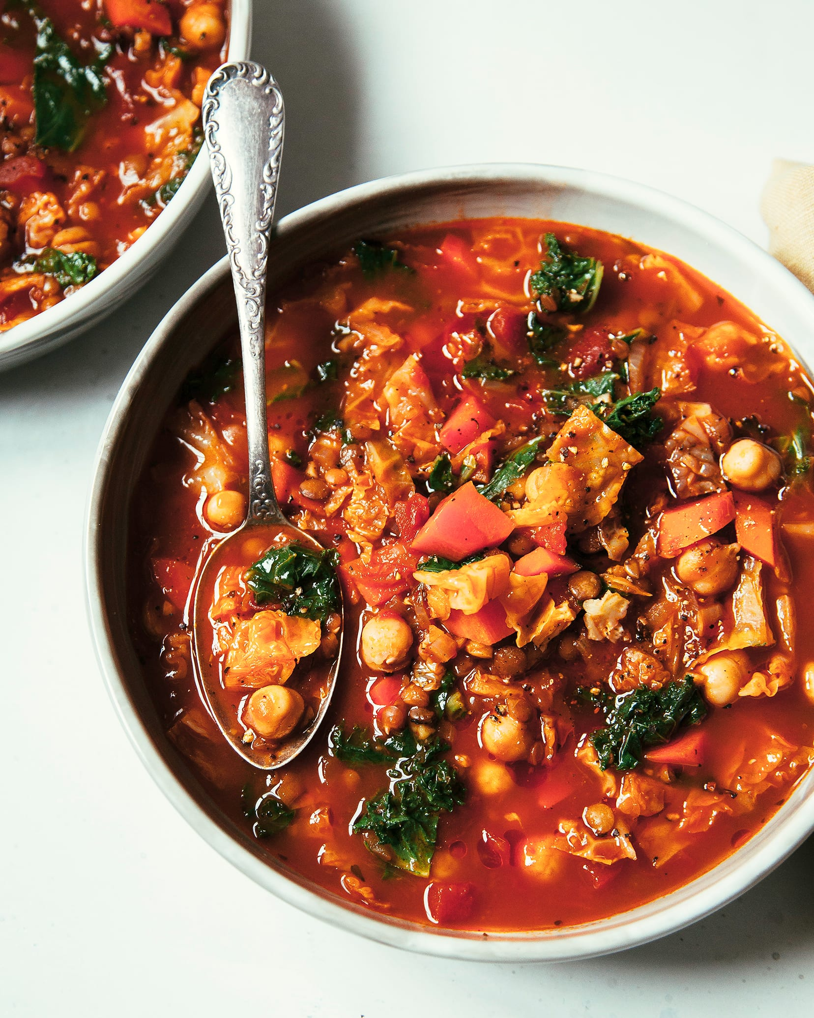 Smoky Chickpea Cabbage Lentil Stew With Kale The First Mess